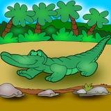 оживленный крокодил иллюстрация штока