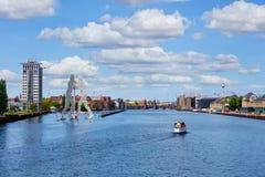 Оживление реки в Берлине стоковые изображения