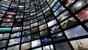 Оживленная видео- стена, вращая Петл-способное 4K иллюстрация вектора