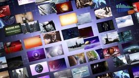Оживленная видео- стена иллюстрация штока