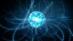 Оживленная глобальная цифровая социальная сеть и видеоматериал