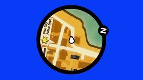 Оживленная карта видеоигры на зеленой предпосылке экрана бесплатная иллюстрация
