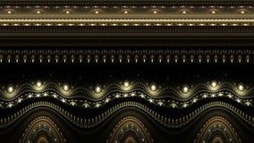 Оживленная орнаментальная винтажная декоративная предпосылка иллюстрация штока