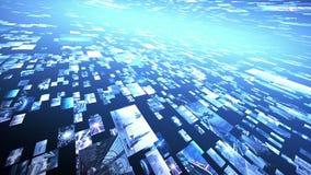 Оживленная стена зажимов, горизонтальная хлопает вверх 4K иллюстрация штока