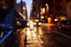 Оживленная улица в нью-йорк Стоковое Изображение RF