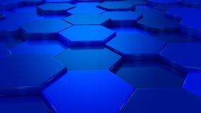 Оживленные голубые соты иллюстрация штока