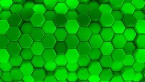 Оживленные зеленые соты иллюстрация штока