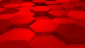 Оживленные красные соты иллюстрация штока