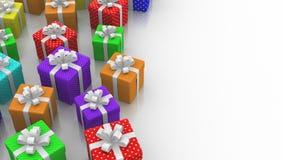 Оживленные подарочные коробки иллюстрация вектора