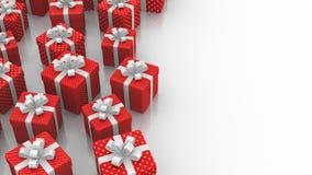 Оживленные подарочные коробки иллюстрация штока