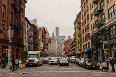 Оживленные улицы более низкого Манхаттана, Нью-Йорка Стоковые Изображения RF