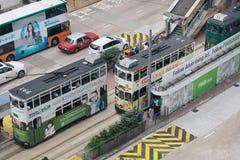 Оживленные улицы Гонконга стоковая фотография