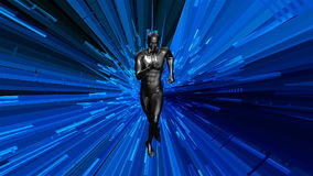оживленный анатомический мужской модельный ход 3d иллюстрация штока
