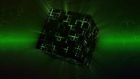 Оживленный вращать куба космоса бесплатная иллюстрация