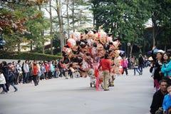 ожидание людей парада Дисней Стоковое Изображение RF