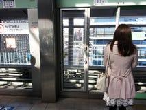 Ожидание поезда стоковое фото rf