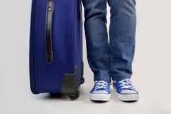 Ожидание с сумкой перемещения стоковое изображение rf
