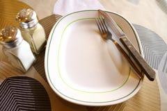 ложка плиты Стоковая Фотография RF