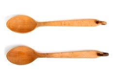 ложки 2 деревянные Стоковая Фотография RF