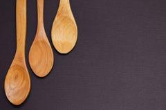 ложки 3 деревянные Стоковая Фотография RF