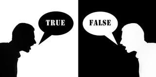 ложно true стоковое изображение rf