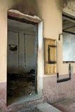ожога комната вне Стоковая Фотография