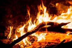 Ожога огня лагеря Стоковая Фотография