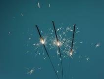 Ожог бенгальских огней Стоковые Фото