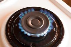Ожог газовой горелки пропана на плите Стоковая Фотография