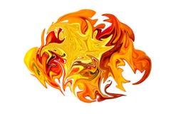 Ожог листьев осени абстракция Стоковое Изображение RF