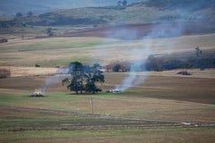 Ожог на ферме Стоковые Изображения RF