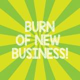 Ожог показа знака текста нового дела Схематическое количество фото ежемесячных денег наличных денег компания тратит Sunburst фото бесплатная иллюстрация