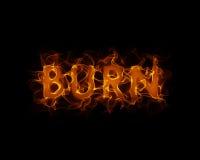 ожог Стоковая Фотография RF