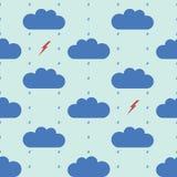 дождь картины безшовный Стоковое фото RF