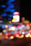 дождь ночи города серповидный Стоковые Изображения