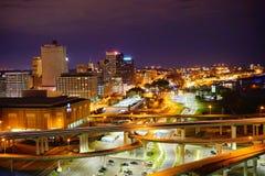 дождь ночи города серповидный Стоковое Изображение RF