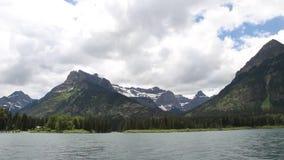 Озера Альберта Канада Waterton сток-видео