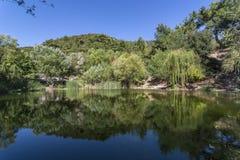 Озера близнеца долины ` s почтового голубя Стоковое Изображение RF