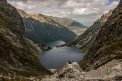 Озера гор в высоком Tatras Польша Стоковое Изображение