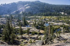 Озера гор в долине Стоковые Фото