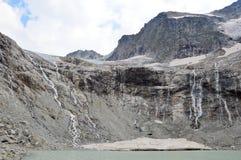 Озера и ледники горы Стоковые Фото