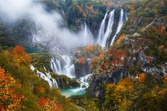 озера наследия Хорватии перечисляют мир unesco plitvice национального парка Стоковое Изображение