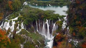 озера наследия Хорватии перечисляют мир unesco plitvice национального парка сток-видео
