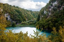 озера наследия Хорватии перечисляют мир unesco plitvice национального парка Стоковая Фотография RF