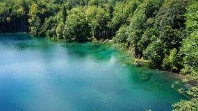 озера наследия Хорватии перечисляют мир unesco plitvice национального парка Стоковые Изображения RF