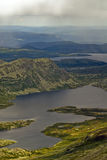 Озера на горе Gaustatoppen Стоковые Изображения RF