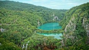 Озера с водопадом в Хорватии Положение: Plitvice, jezera Plitvicka национального парка видеоматериал