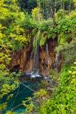 озера Хорватии паркуют plitvice тропы Стоковое Изображение