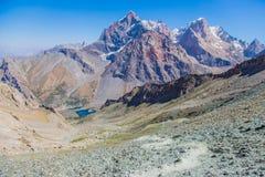 Озера Alouddin, горы Fann, туризм, Таджикистан Стоковые Изображения RF