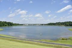 Озера Bonita, меридиан, Миссиссипи стоковая фотография rf